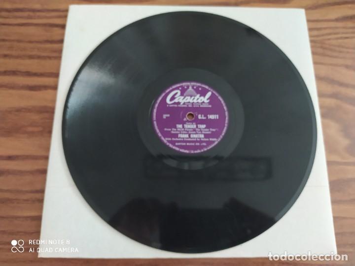 Discos de pizarra: FRANK SINATRA, The tender trap, weep they will, disco de pizarra 78 rpm - Foto 2 - 222096098