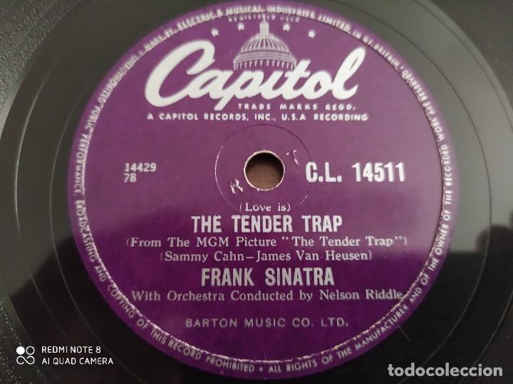 Discos de pizarra: FRANK SINATRA, The tender trap, weep they will, disco de pizarra 78 rpm - Foto 3 - 222096098