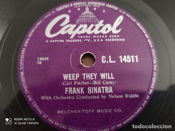 Discos de pizarra: FRANK SINATRA, The tender trap, weep they will, disco de pizarra 78 rpm - Foto 4 - 222096098