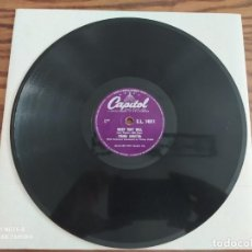 Discos de pizarra: FRANK SINATRA, THE TENDER TRAP, WEEP THEY WILL, DISCO DE PIZARRA 78 RPM. Lote 222096098