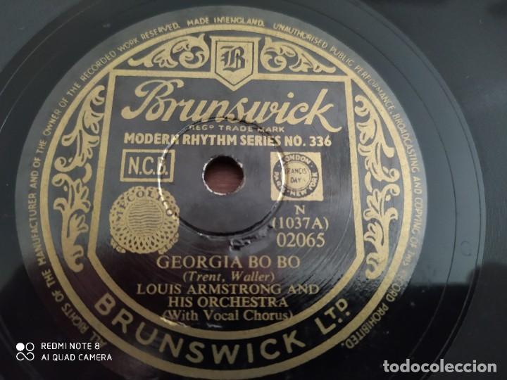 Discos de pizarra: LOUIS ARMSTRONG and his orchestra, Wild man blues, Georgia bo bo, disco de pizarra 78 rpm - Foto 2 - 222096116