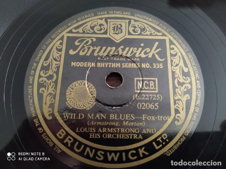 Discos de pizarra: LOUIS ARMSTRONG and his orchestra, Wild man blues, Georgia bo bo, disco de pizarra 78 rpm - Foto 4 - 222096116