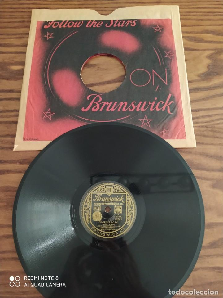 LOUIS ARMSTRONG AND HIS ORCHESTRA, WILD MAN BLUES, GEORGIA BO BO, DISCO DE PIZARRA 78 RPM (Música - Discos - Pizarra - Jazz, Blues, R&B, Soul y Gospel)