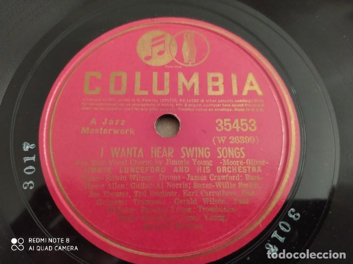 Discos de pizarra: Jimmie lunceford, I wanta hear swing Songs, sonata by l. Van Beethoven, disco de pizarra 78 rpm - Foto 4 - 222096140