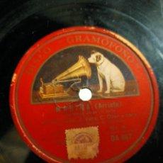 Discos de pizarra: ANTIGUO DISCO PIZARRA PARA GRAMÓFONO MIGUEL FLETA Y CORO - SALIDA DE JORGE MARINA (ARRIETA). Lote 222125766