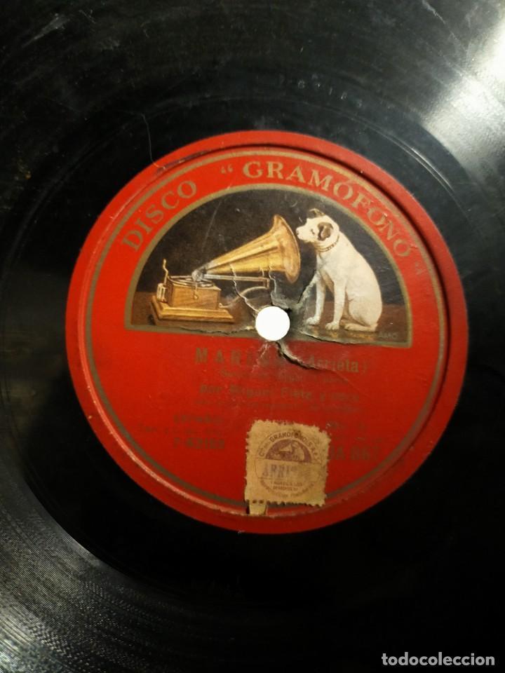 Discos de pizarra: Antiguo disco pizarra para gramófono Miguel Fleta y coro - Salida de Jorge Marina (Arrieta) - Foto 3 - 222125766