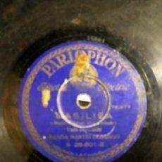 Discos de pizarra: ANTIGUO DISCO DE PIZARRA GRAMÓFONO - VALS COREABLE BANDA MARTÍN DOMINGO BASILIA PARLOPHON. Lote 222129920