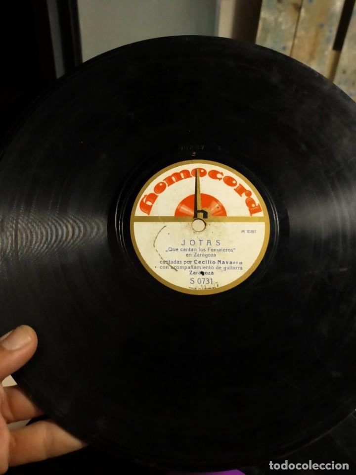 ANTIGUO DISCO DE PIZARRA PARA GRAMÓFONO JOTAS - JUICIO ORAL Y RABALERA - CECILIO NAVARRO - HOMOCORD (Música - Discos - Pizarra - Flamenco, Canción española y Cuplé)