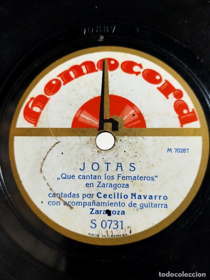 Discos de pizarra: Antiguo disco de pizarra para gramófono Jotas - Juicio Oral y Rabalera - Cecilio Navarro - Homocord - Foto 2 - 222131236