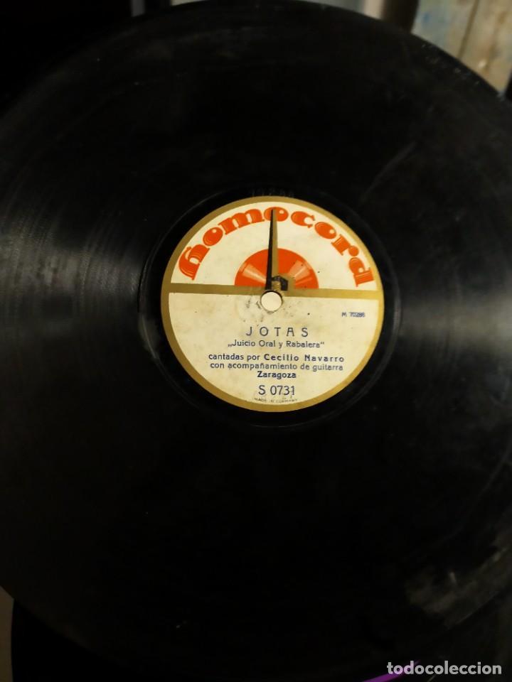 Discos de pizarra: Antiguo disco de pizarra para gramófono Jotas - Juicio Oral y Rabalera - Cecilio Navarro - Homocord - Foto 3 - 222131236