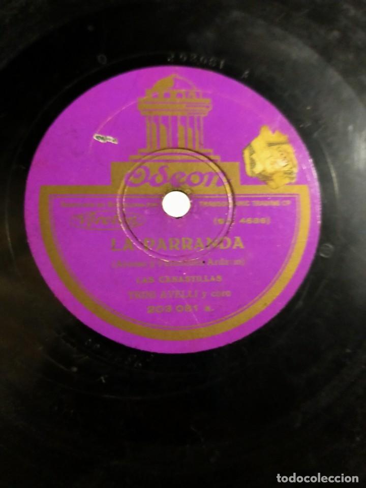 ANTIGUO DISCO PIZARRA LA PARRANDA ALONSO Y FERNANDEZ ARDAVIN CUPLETS DEL QUISIERA ANTONIO PALACIOS (Música - Discos - Pizarra - Flamenco, Canción española y Cuplé)