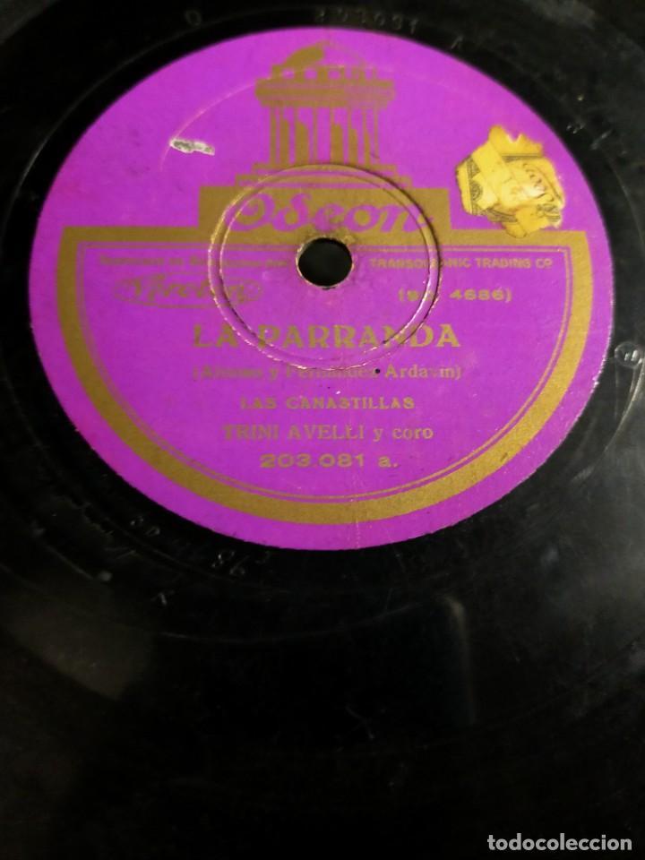 Discos de pizarra: Antiguo disco pizarra La Parranda Alonso y Fernandez Ardavin Cuplets del Quisiera Antonio Palacios - Foto 2 - 222131946