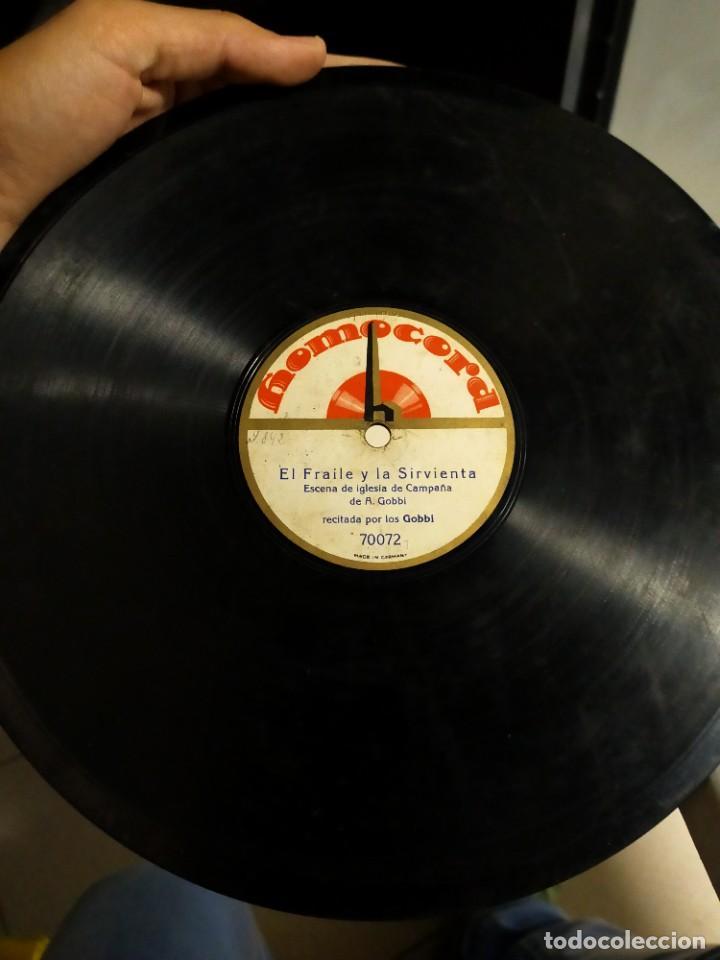 ANTIGUO DISCO GRAMÓFONO PIZARRA - EL FRAILE Y LA SIRVIENTA - ESCENA IGLESIA DE CAMPAÑA - A. GOBBI (Música - Discos - Pizarra - Otros estilos)