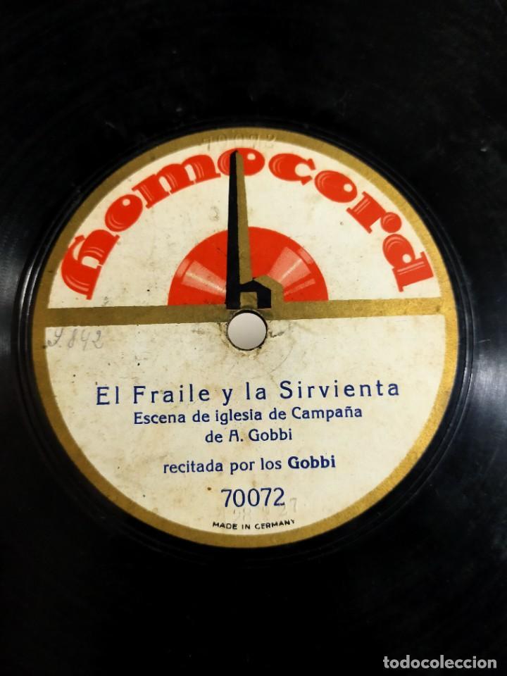 Discos de pizarra: Antiguo disco gramófono pizarra - El Fraile y La Sirvienta - Escena Iglesia de Campaña - A. Gobbi - Foto 2 - 222132137