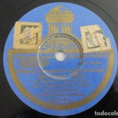 Disques en gomme-laque: HIMNO EXPOSICIÓN INTER. BARCELONA 1929 / GIGANTES Y CABEZUDOS, CORO DE LOS REPATRIADOS. Lote 222195515