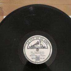 Discos de pizarra: DISCO DE PIZARRA 78RPM-BERNARD HILDA-ES NATURAL/LOS DOS.. Lote 222231338