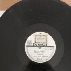 Discos de pizarra: DISCO DE PIZARRA 78RPM-BENNY GOODMAN-CLARINETE A LA KING/EL CONDE. Lote 222233427