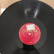 Discos de pizarra: DISCO DE PIZARRA 78RPM-BING CROSBY-CON LA MUSICA A OTRA PARTE. Lote 222233565