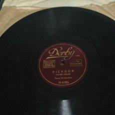Discos de pizarra: DISCO DE PIZARRA 78RPM DERBY-BARCELONA/PICADOR. Lote 222249851