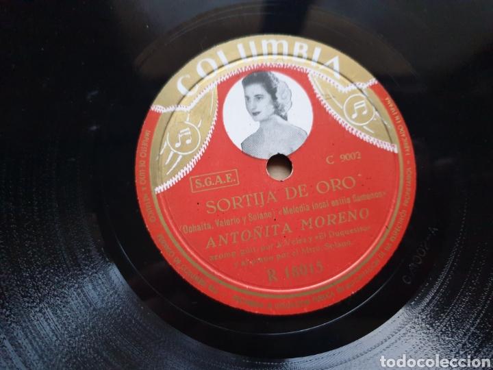 Discos de pizarra: Disco pizarra Columbia. R 18015. Sortija de oro. Serrano. Antonia Moreno - Foto 2 - 222252380
