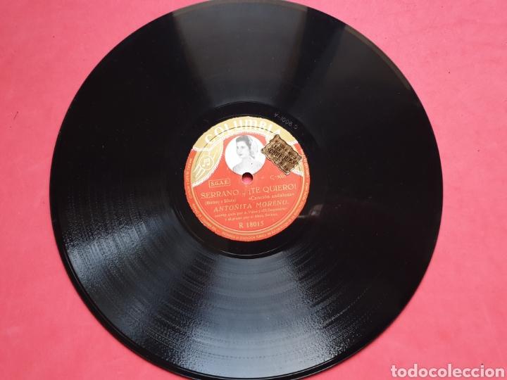 Discos de pizarra: Disco pizarra Columbia. R 18015. Sortija de oro. Serrano. Antonia Moreno - Foto 3 - 222252380