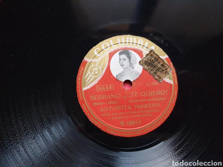 Discos de pizarra: Disco pizarra Columbia. R 18015. Sortija de oro. Serrano. Antonia Moreno - Foto 4 - 222252380