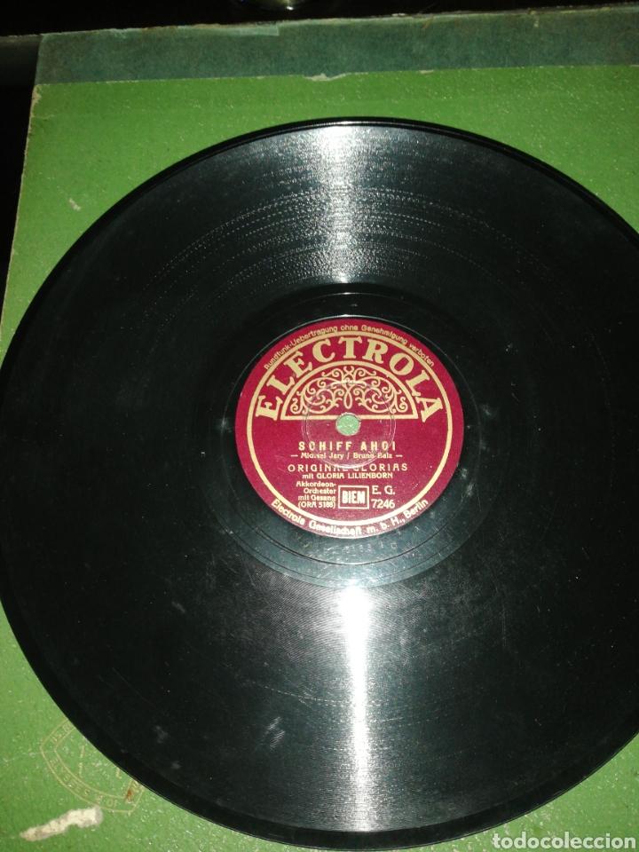 Discos de pizarra: Disco de pizarra 78rpm-Gloria Lilienborn-SCHIFF AHOI/SO SIND WIR - Foto 2 - 222253406