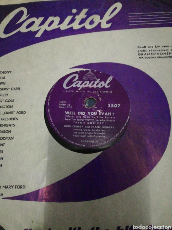 Discos de pizarra: Disco pizarra-Bing Crosby and Frank Sinatra, Grace kelly-WELL DID YOU EVAH? /TRUE LOVE - Foto 2 - 222261637