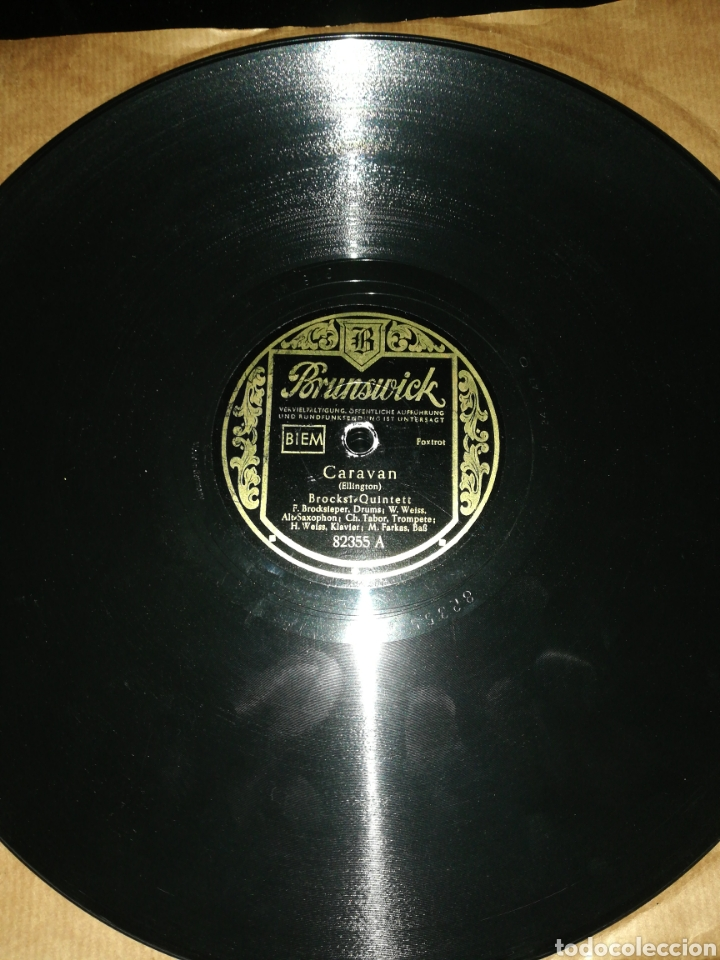 Discos de pizarra: Disco pizarra-Ellington-CARAVAN/CYMBAL PROMENADE - Foto 2 - 222265557
