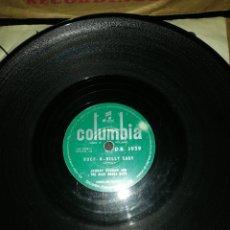 Discos de pizarra: DISCO PIZARRA-JHONNY DUNCAN-LAST TRAIN TO SAN FERNANDO/ROCK A BILLY BABY.. Lote 222266575