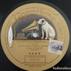 Discos de pizarra: PAQUITA ESCRIBANO - MIMOSA! COUPLET / SOLO ... O CON LECHE?, SCHOTTISCH. Lote 222276281
