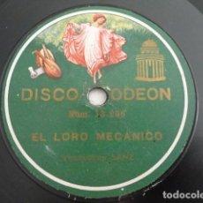 Dischi in gommalacca: VENTRILOCUO SANZ - EL LORO MECÁNICO / ESCENA DE LOS TOREROS - ODEON 13.236. Lote 222436980