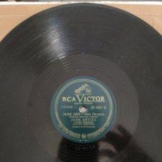 Discos de pizarra: DISCO JUAN ARVIZU-CHOCOLATE/NUBE GRIS. Lote 222565802