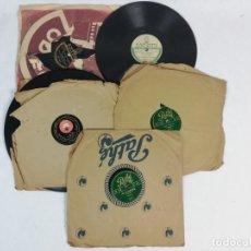 Discos de pizarra: LOTE DE DISCOS DE PIZARRA PARA GRAMOFONO. Lote 222695027