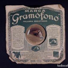 Discos de pizarra: DISCO DE PIZARRA PARA GRAMOFONO. A LA SANTISIMA VIRGEN DE ARANZAZU Y ENE ARREROSTEKO. Lote 222926407