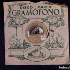Discos de pizarra: DISCO DE PIZARRA PARA GRAMOFONO. AYORI BEGUI EDERRA Y GOIZEKO IZARRA. Lote 222926681