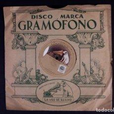 Disques en gomme-laque: DISCO DE PIZARRA PARA GRAMOFONO. GUERNIKAKO ARBOLA E IRU DAMACHO. Lote 222926982