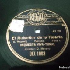 """Discos de pizarra: DISCO DE PIZARRA """"EL RUISEÑOR DE LA HUERTA"""". Lote 223585862"""