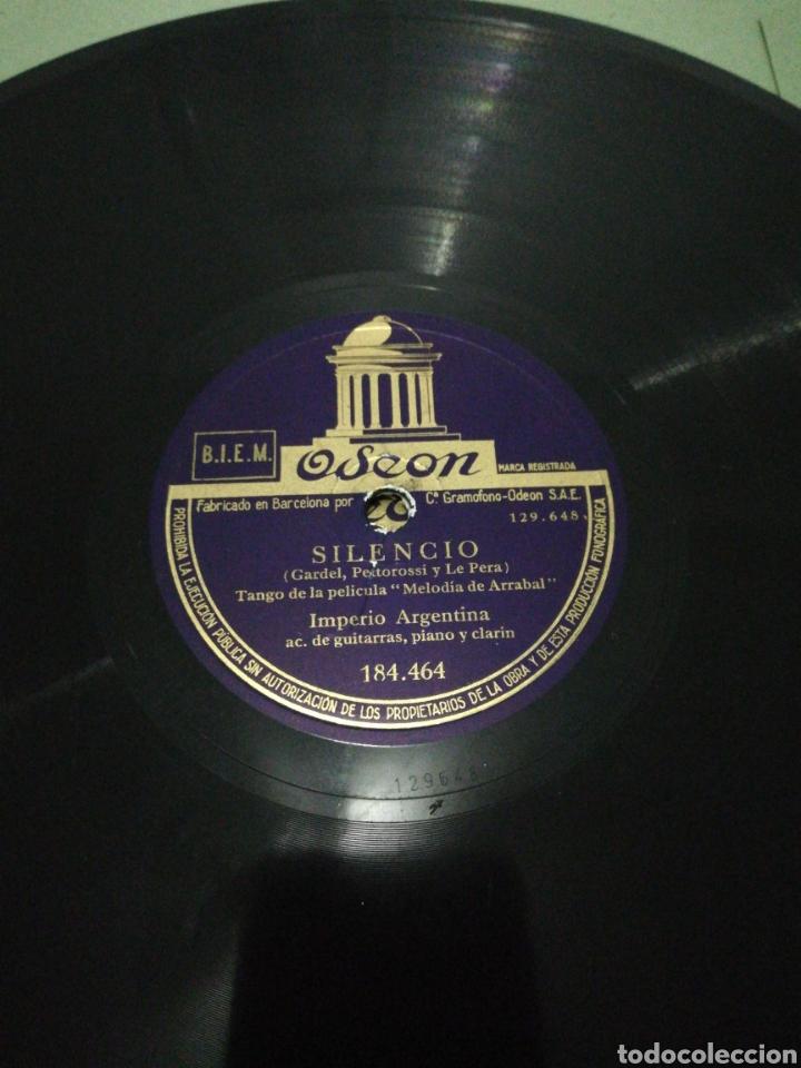 Discos de pizarra: Disco 78rpm Imperio Argentina-SILENCIO/MORUCHA. - Foto 2 - 224235810