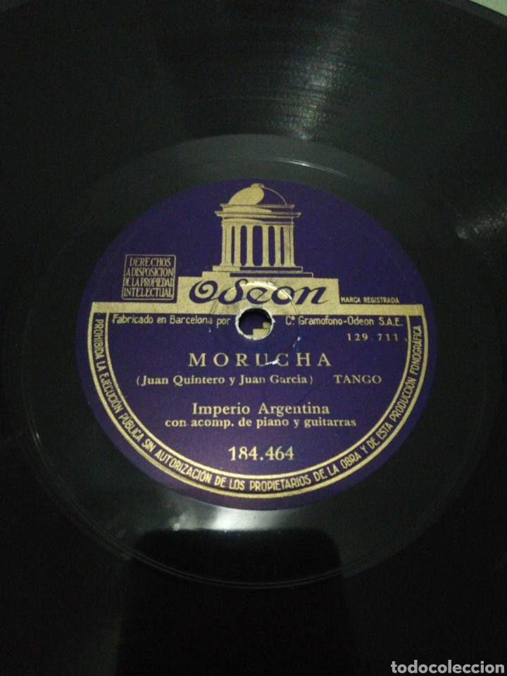 Discos de pizarra: Disco 78rpm Imperio Argentina-SILENCIO/MORUCHA. - Foto 4 - 224235810