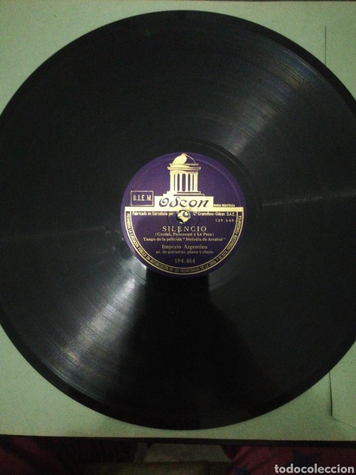DISCO 78RPM IMPERIO ARGENTINA-SILENCIO/MORUCHA. (Música - Discos - Pizarra - Solistas Melódicos y Bailables)