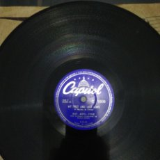 Discos de pizarra: DISCO 78RPM- NAT KING COLE-MY FIRST AND LAST LOVE/UNFORGETTABLE. Lote 224244990