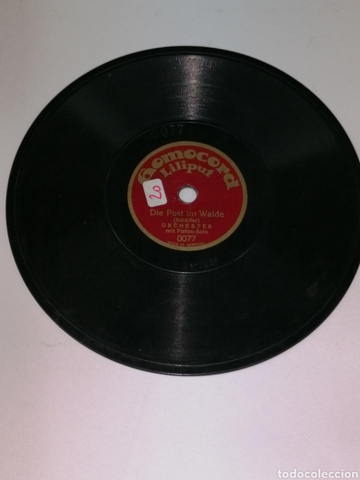 Discos de pizarra: Discos pizarra homocord Liliput lote de dos son pequeños 15cms - Foto 2 - 224312296