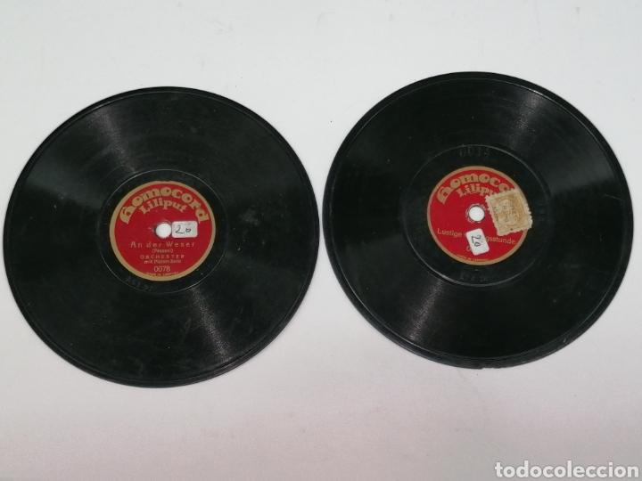 Discos de pizarra: Discos pizarra homocord Liliput lote de dos son pequeños 15cms - Foto 3 - 224312296