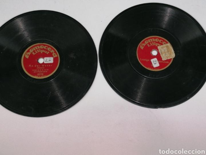 DISCOS PIZARRA HOMOCORD LILIPUT LOTE DE DOS SON PEQUEÑOS 15CMS (Música - Discos - Pizarra - Otros estilos)