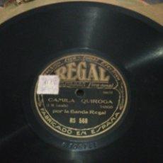 Discos de pizarra: DISCO 78RPM-CAMILA QUIROGA-TANGO/FACULTADES.. Lote 224792525