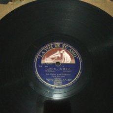 Discos de pizarra: DISCO 78RPM-BOB HUBER-HELO BEBY/CHIU CHIU.. Lote 224792823