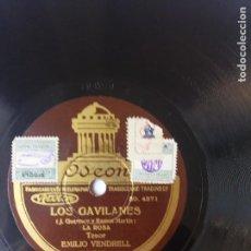 Discos de pizarra: L.P. DE PIZARRA, 78 REVOLUCIONES, LOS GAVILANES, LA ROSA Y DUO FINAL. CARAS A. Y B. VER LAS FOTOS.. Lote 225659695