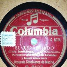 Discos de pizarra: ORQUESTA CASABLANCA DE MADRID-JONNY PEDDLER I GOT-EL REPATRIADO. Lote 225873246