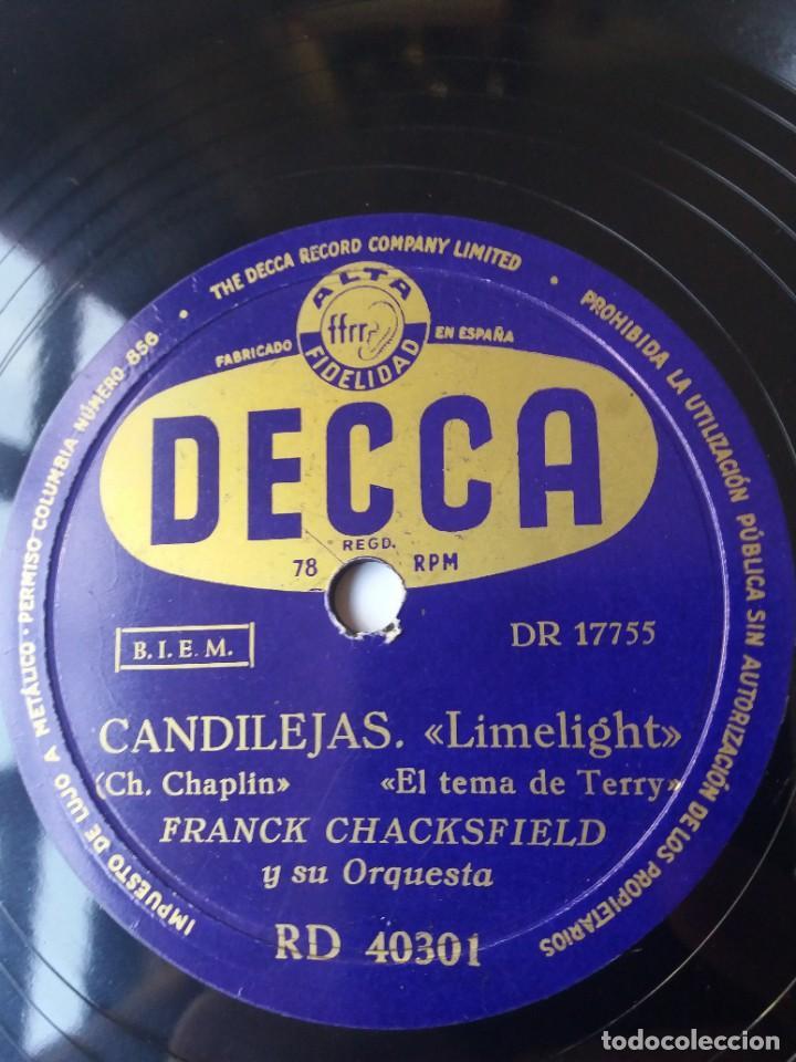 L.P. DE PIZARRA, 78 RPM. CARA A. Y B. CANDILEJAS, DE CHARLES CHAPLIN, VER LAS FOTOS. (Música - Discos - Pizarra - Otros estilos)